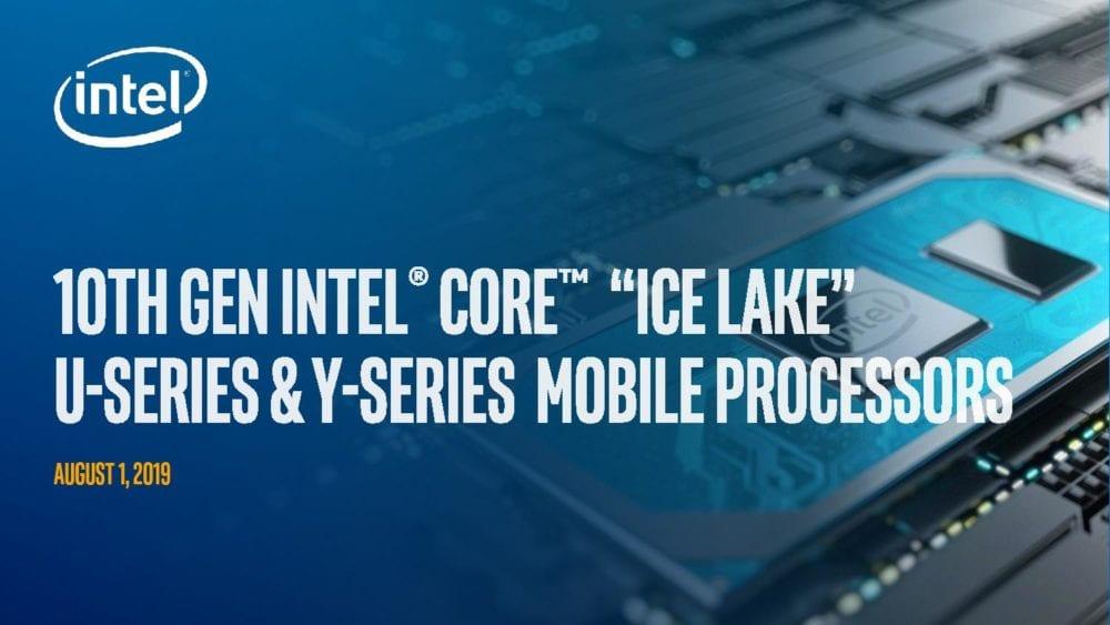 Intel официально представила 10-поколение мобильных чипов Core