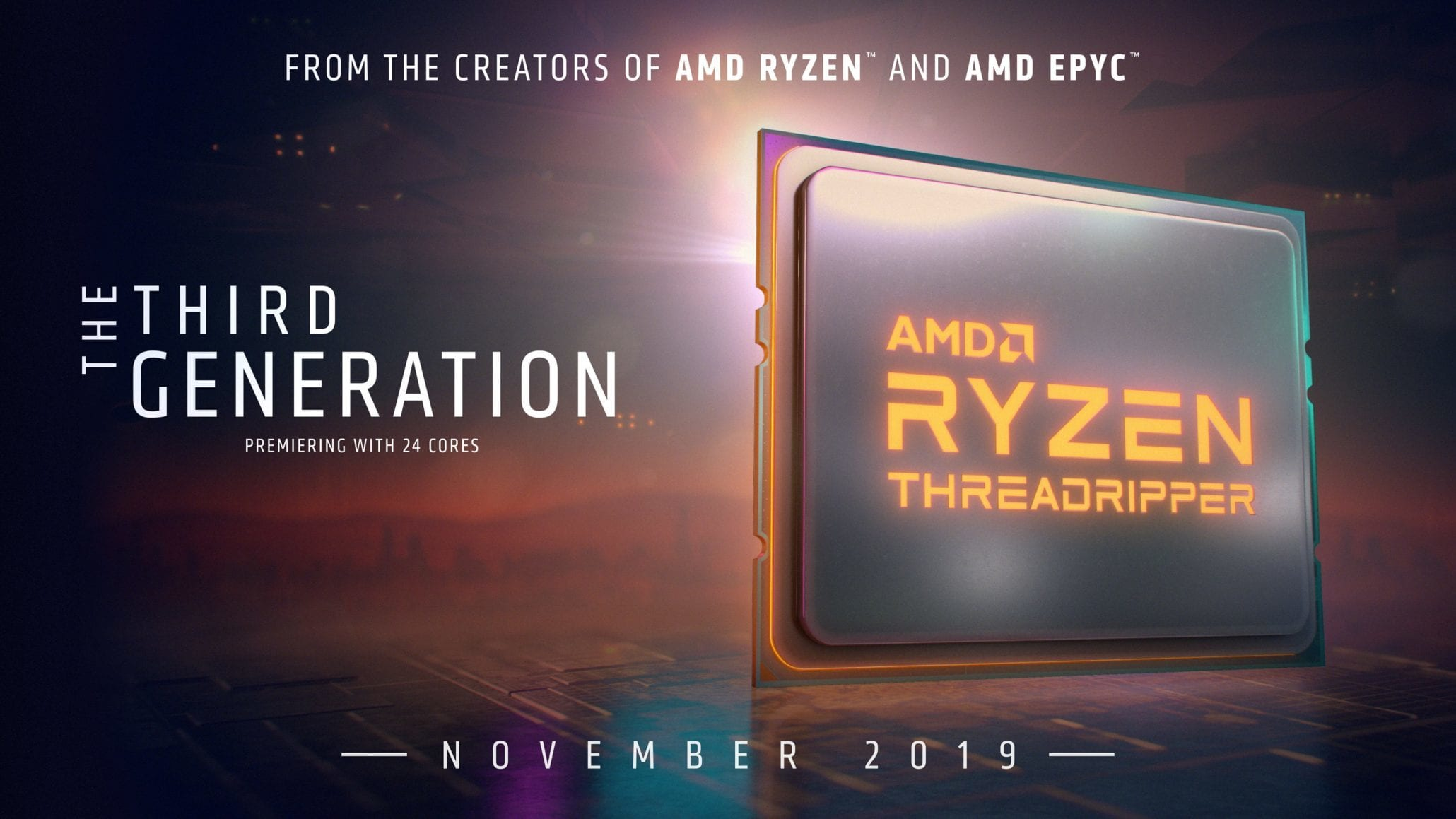 AMD Ryzen 9 3950X и Ryzen Threadripper 3000 выйдут в ноябре