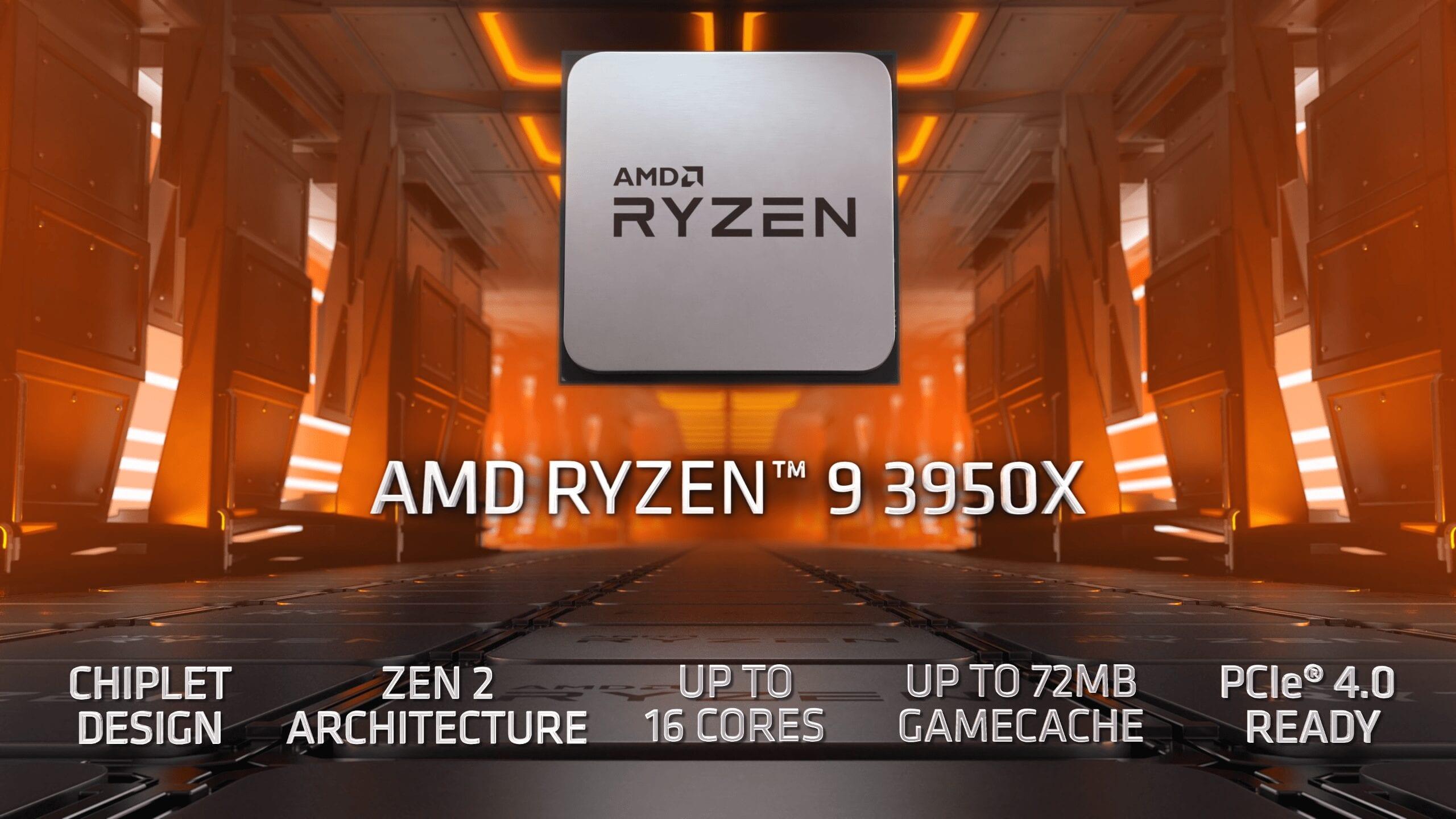 16-ядерный монстр AMD Ryzen 9 3950X опережает 24-ядерный Ryzen Threadripper 2970WX