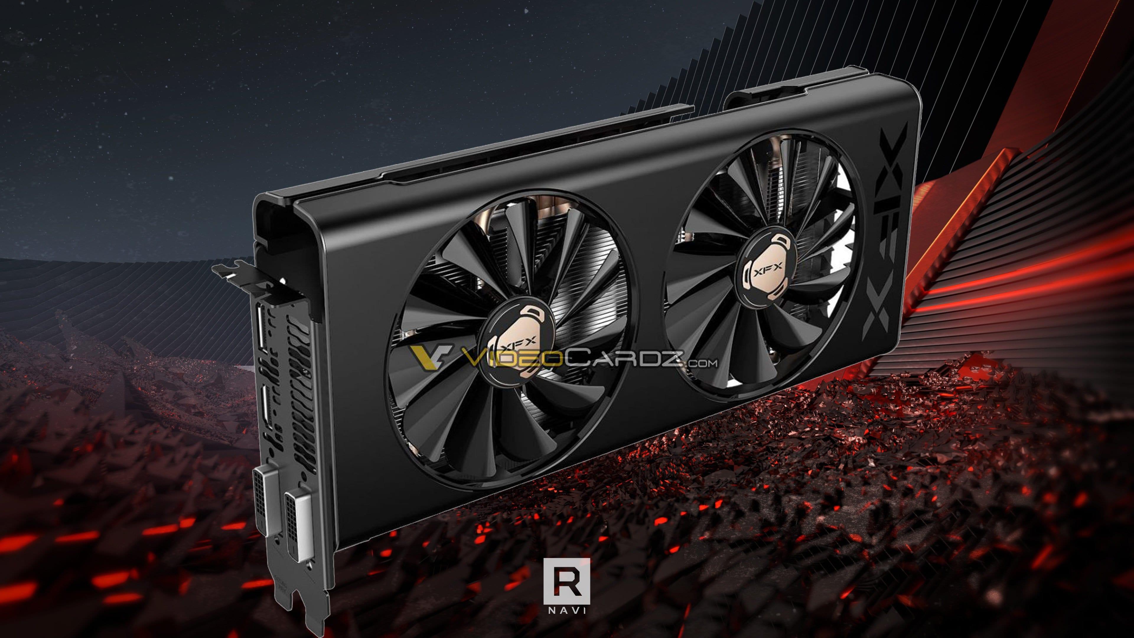 Видеокарта XFX Radeon RX 5500 THICC II будет иметь один 8-контактный разъем питания