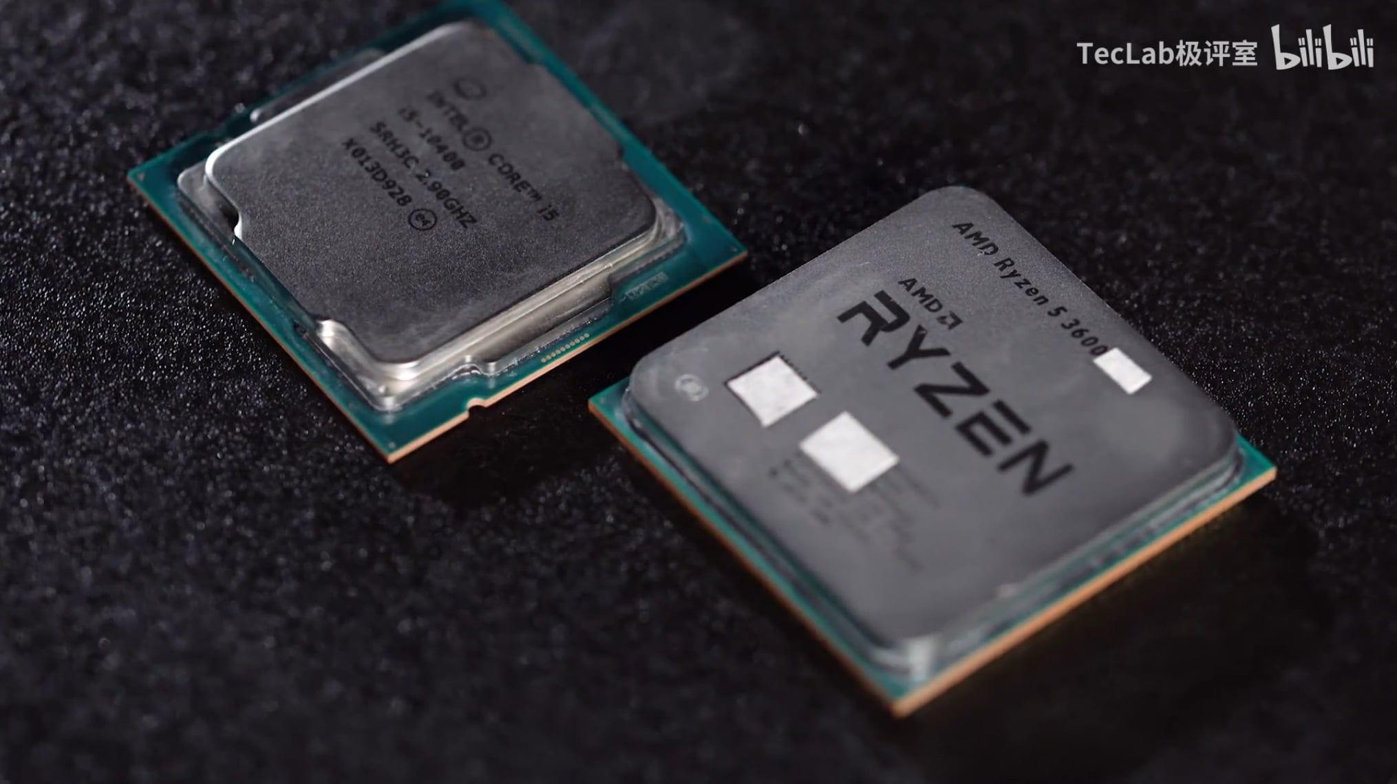 Игровая производительность чипа AMD Ryzen 5 3600XT равна более дешевому процессору Intel Core i5-10400